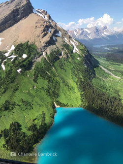 Alpine lake from the air